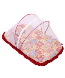 Mee Mee Mattress Set With Mosquito Net And Pillow - Red