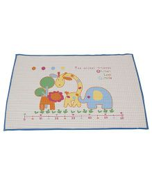 Mee Mee Air Filled Multi Function Mat Animal Friends Print - Blue