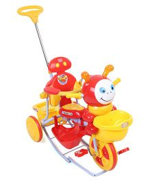 Mee Mee Tricycle with Push Handle and Rocker - Red