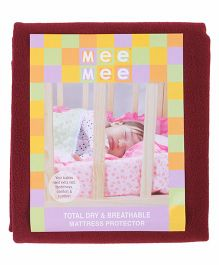 Mee Mee Total Dry And Breathable Mattress Protector Large - Maroon