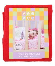 Mee Mee Total Dry And Breathable Mattress Protector Large - Red