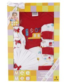 Mee Mee Clothing Gift Set Pack Of 5 MM 33087 - Red