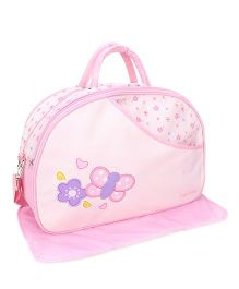 Mee Mee Nursery Bag Butterfly And Floral Embroidery - Pink
