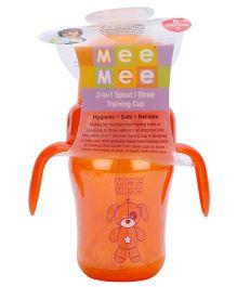 Mee Mee Straw Sipper Cup Orange - 210 ml