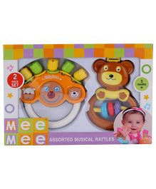 Mee Mee Musical Rattle Toy - Orange And White