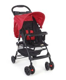 Mee Mee Stroller With Canopy - Red and Black