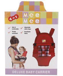 Mee Mee Deluxe Baby Carrier - Red