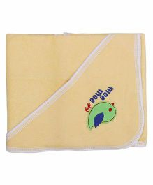 Mee Mee Hooded Bath Towel Birdie Embroidery PK1 MM 1567 - Yellow