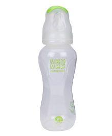 Mee Mee Polypropylene Milk Safe Feeding Bottle Advanced White And Green - 250 ml
