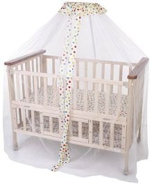 Mee Mee Wooden Cradle Dotted Print - Multi Color