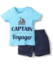 Starters Captain Voyager Print T-Shirt & Short Set - Blue