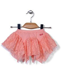AZ Stylish Short Skirt - Peach