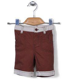 AZ Baby Trendy Half Pants - White & Coffee