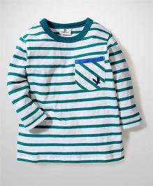 Hallo Heidi Striped T-Shirt - Green