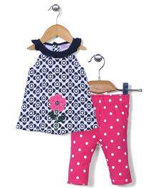Starters Dt & Flower Print Set - Pink
