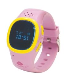 Findme Kids Watch Cum Mobile And GPS Tracker - Pink