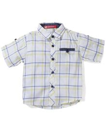 Kidsplanet Checkered Shirt - White & Yellow