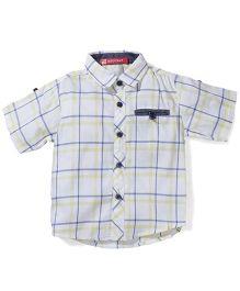 Kidsplanet Checkered Shirt - White & Yellow