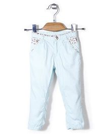 Gini & Jony Full Length Trouser - Aqua Blue