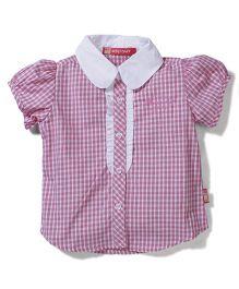 Kidsplanet Checks Print Shirt - Pink