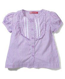 Kids Planet Striped Shirt - Purple