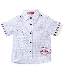 Kids Planet Dot Print Shirt - White