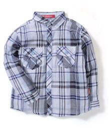 Kidsplanet Checkered Shirt - Blue & Grey