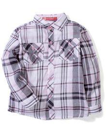 Kidsplanet Checkered Shirt - Purple & Grey