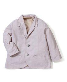Timeless Fashion Full Sleeves Blazer - Light Purple