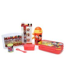 Mickey Mouse And Friends School Kit Pack of 5 - Multicolor