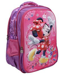 Disney Minnie Mouse School Backpack Purple And Pink - 16 inches