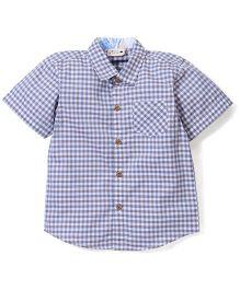 Timeless Fashion Checks Printed Shirt - Blue