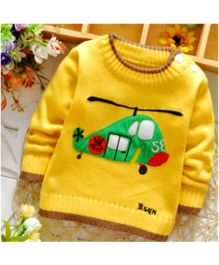 Lil Mantra Helicopter Design Pullover - Yellow