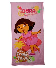 Dora Bath Towel - Pink