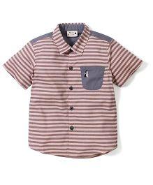 Timeless Fashion Pingwing Printed Shirt - Brown