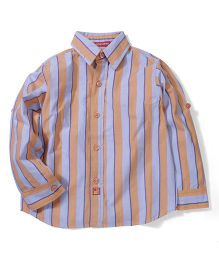 Kidsplanet Stripe Print Shirt - Blue & Orange