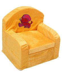 Luvely Kids Chair Puppy Embroidery - Yellow