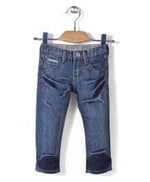 Quick Seven Super Soft Denim Pants - Blue