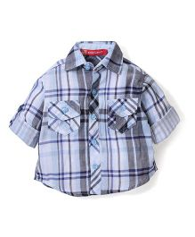 Kidsplanet Checkered Shirt - Blue