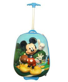 Disney Mickey Mouse With Ball 3 D Design Trolley Bag Multicolor - 16 Inches