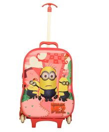 Universal Studios Minion Trolley Bag - Baby Pink