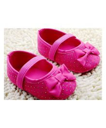 Little Hip Boutique Shimmer First Walkers - Hot Pink