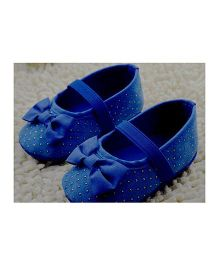 Little Hip Boutique Shimmer First Walkers - Blue
