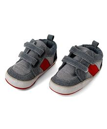 Little Hip Boutique Denim First Walker - Grey