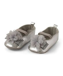 Little Hip Boutique Floral Walkers - Metallic Grey