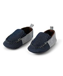 Little Hip Boutique Denim Slip Ons  - Blue
