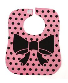 Little Hip Boutique Polka Dot Bib  - Pink