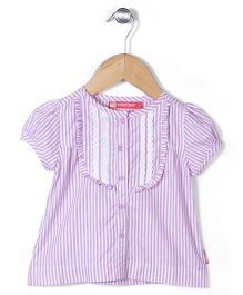 Kidsplanet Stripe Print Top - Purple