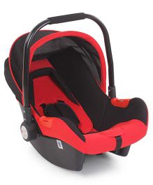 Rear Facing Car Seat Cum Carry Cot - Red & Black