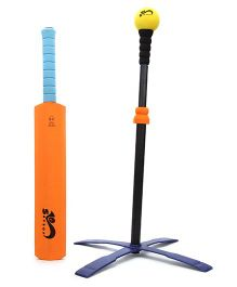 Safsof Tee Ball Set Cricket - Orange And red/blue